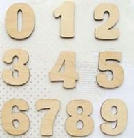 Цифры (5*3 см./3 мм.)
