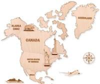 """Фигуры на карту """"Северная Америка"""" (6 шт.)"""