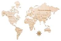 """Карта мира из дерева """"White"""""""