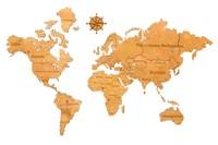 "Карта Мира из дерева ""Yellow"""