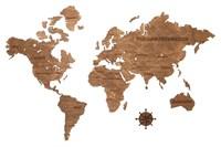 """Карта Мира из дерева """"Brown"""""""