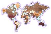 Карта с цветной подсветкой (основа-фанера)