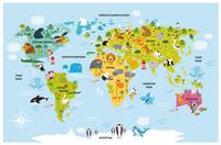 Игровое поле Карта мира (акс)