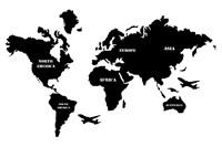 "Карта Мира ""Black"""