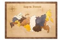 Карта России в прямоугольной рамке