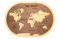 """Карта Мира в овальной рамке """"Brown"""""""