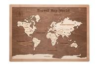 """Карта мира в прямоугольной рамке """"Brown"""""""