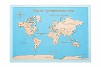 """Карта мира в прямоугольной рамке """"Blue"""""""