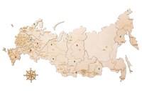 "Карта России из дерева ""White"""
