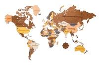"""Карта Мира из дерева """"Color"""""""