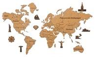 Карта Мира из пробки
