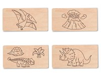 """Доска для выжигания """"Динозавры №2""""  (4 с контурами + 1 пустой для творчества)"""